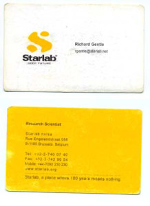 Starlab Card - Richard Gentle